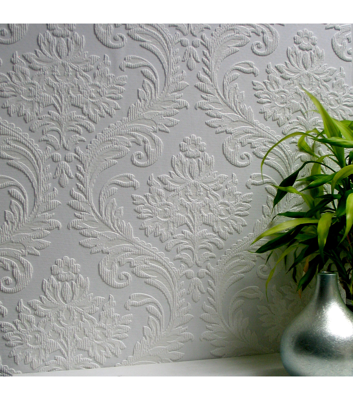 High Trad Paintable Textured Vinyl Wallpaper Sample