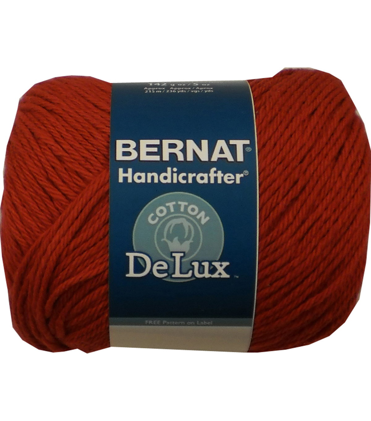 Bernat Handicrafter DeLux Cotton Yarn, Poppy Seed