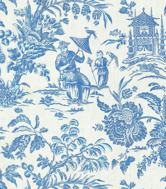 P/K Lifestyles Lightweight Decor Fabric 54\u0022 Asian Arcadia/Sapphire