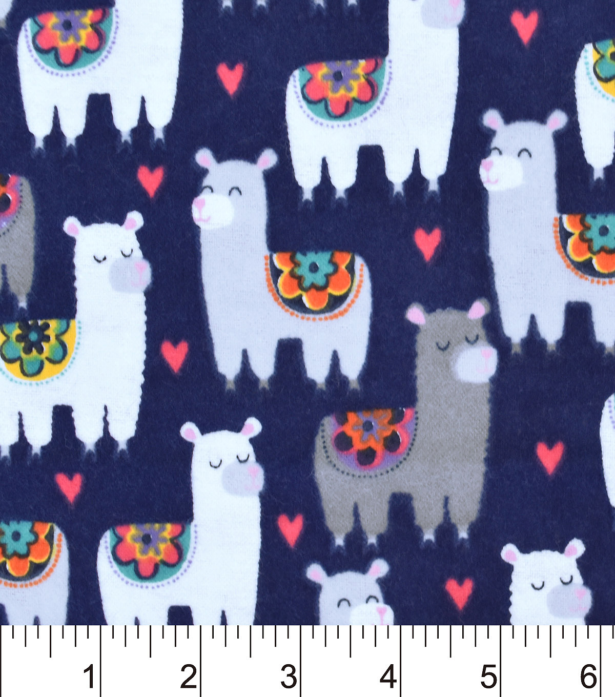 Snuggle Flannel Fabric -Patterned Llamas
