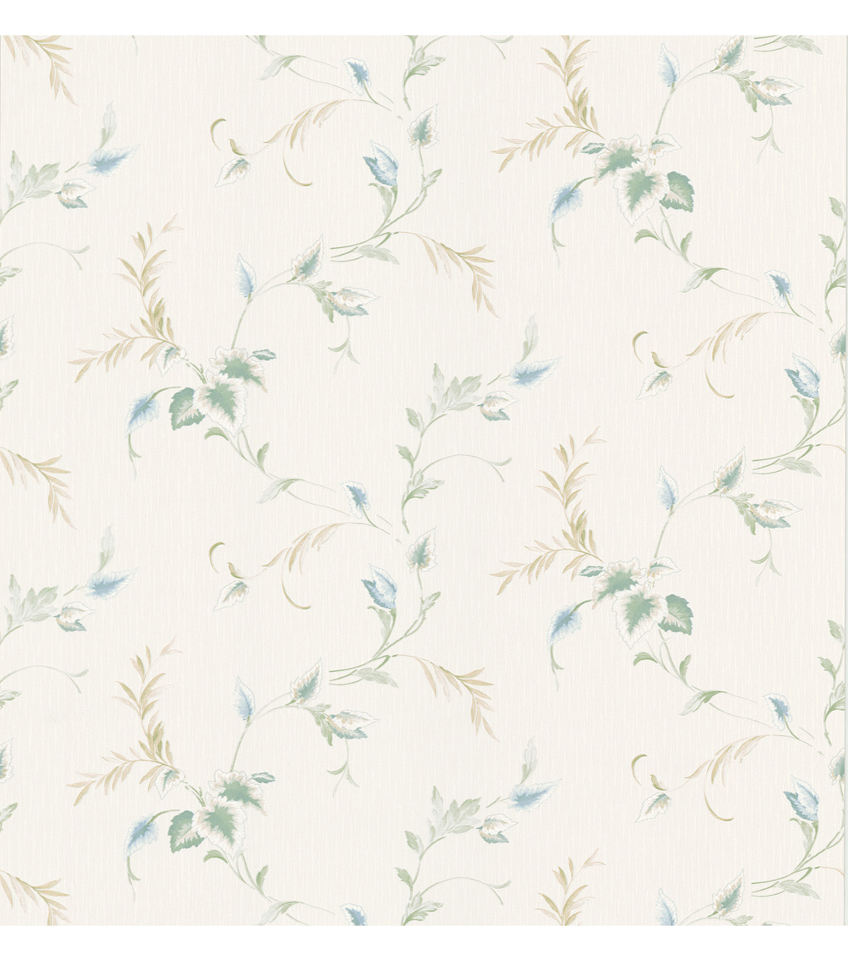 Shima Blue Trailing Leaves Wallpaper