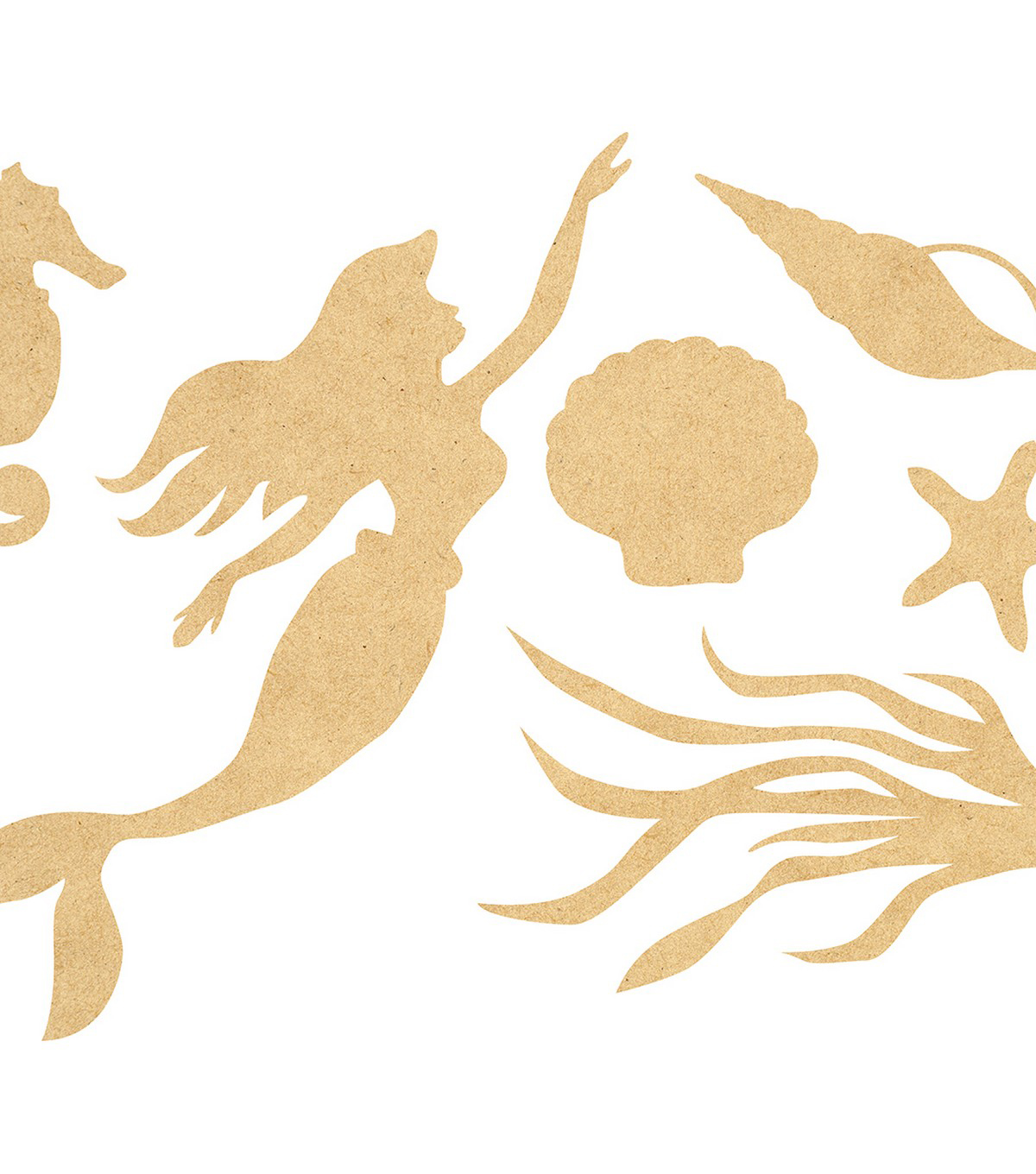 Beyond The Page MDF Mermaid Wall Art-12.75\u0022X16.5\u0022