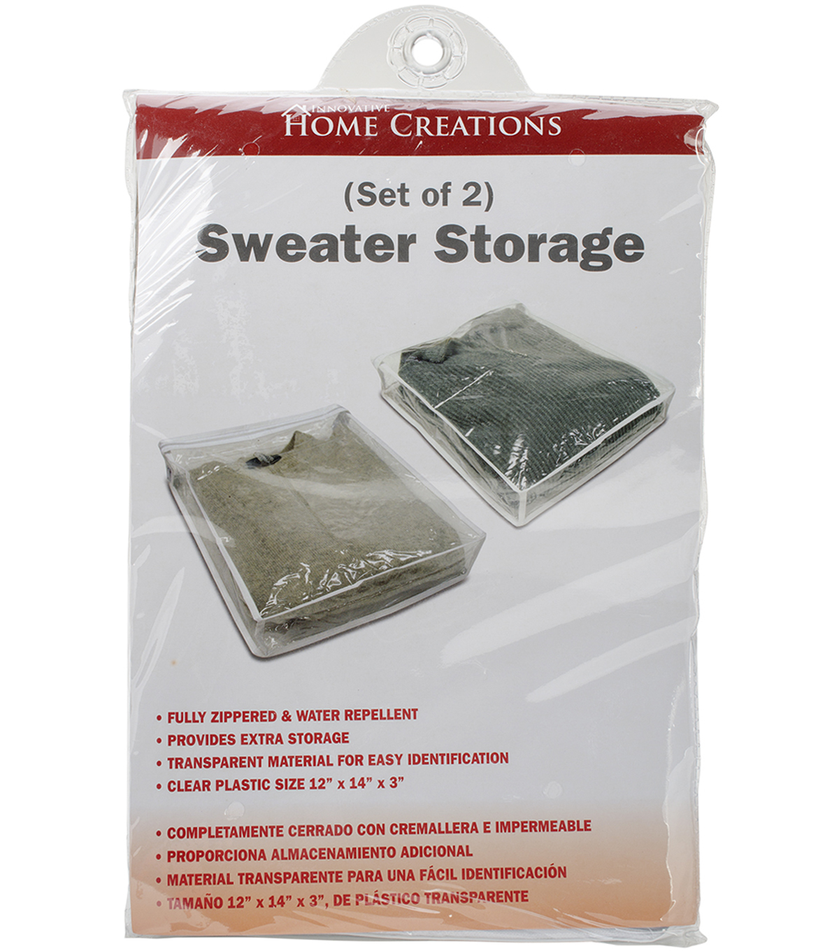 Sweater Storage Bags 2 Pack 12\u0022X14\u0022X3\u0022