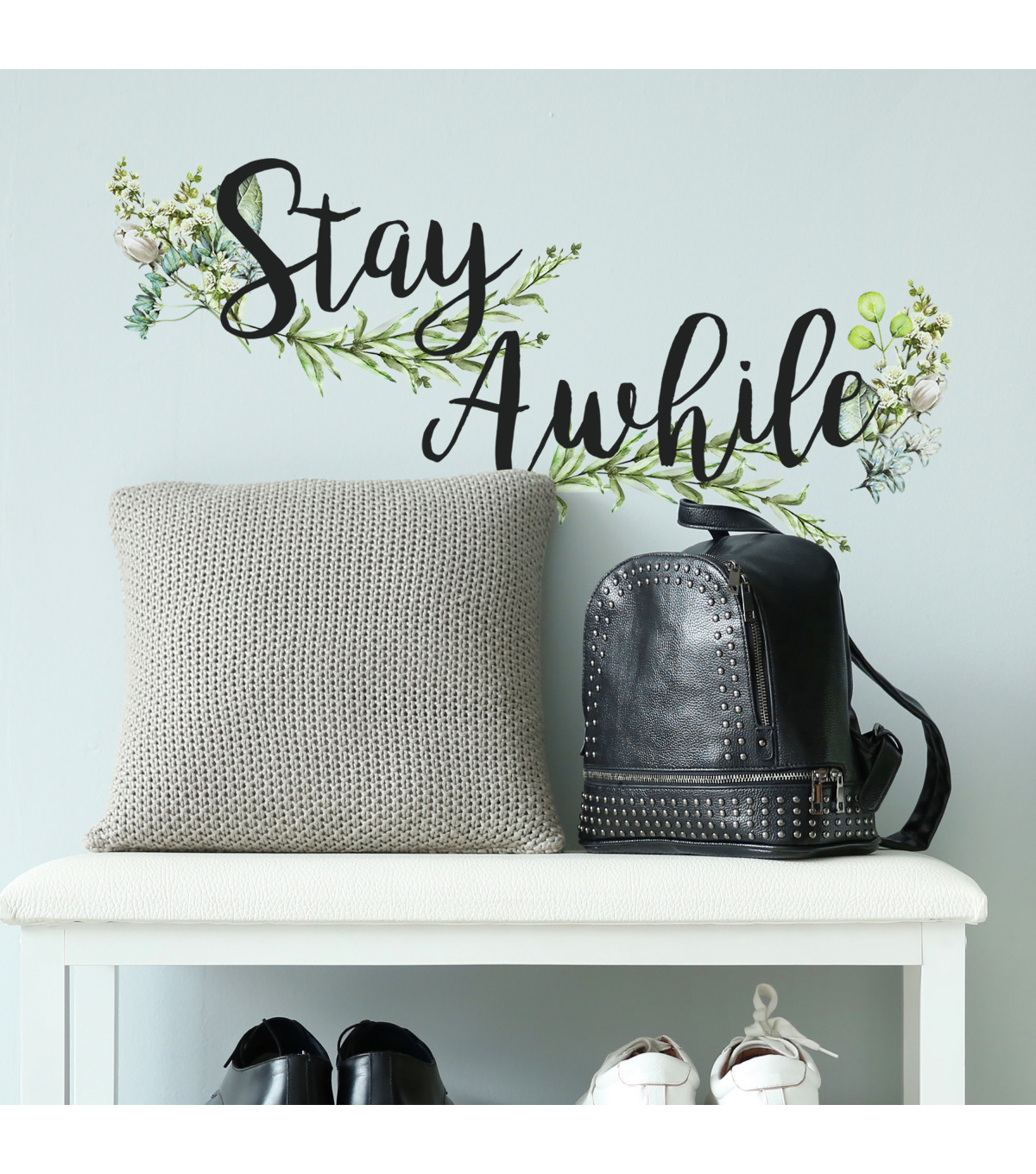 York Wallcoverings Wall Decals-Stay Awhile Quote