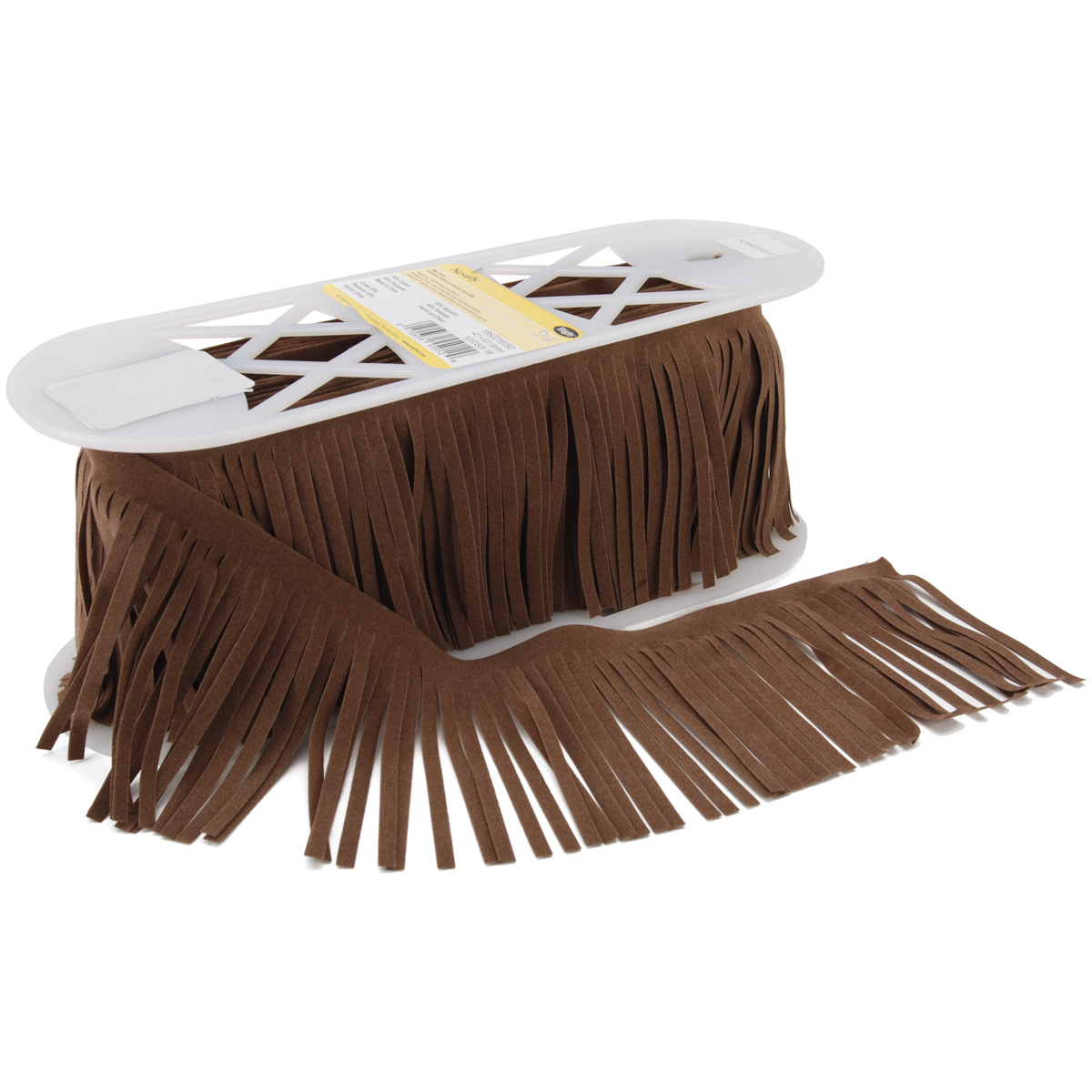 Suede Fringe 4\u0022 Wide 10 Yards-Seal Brown