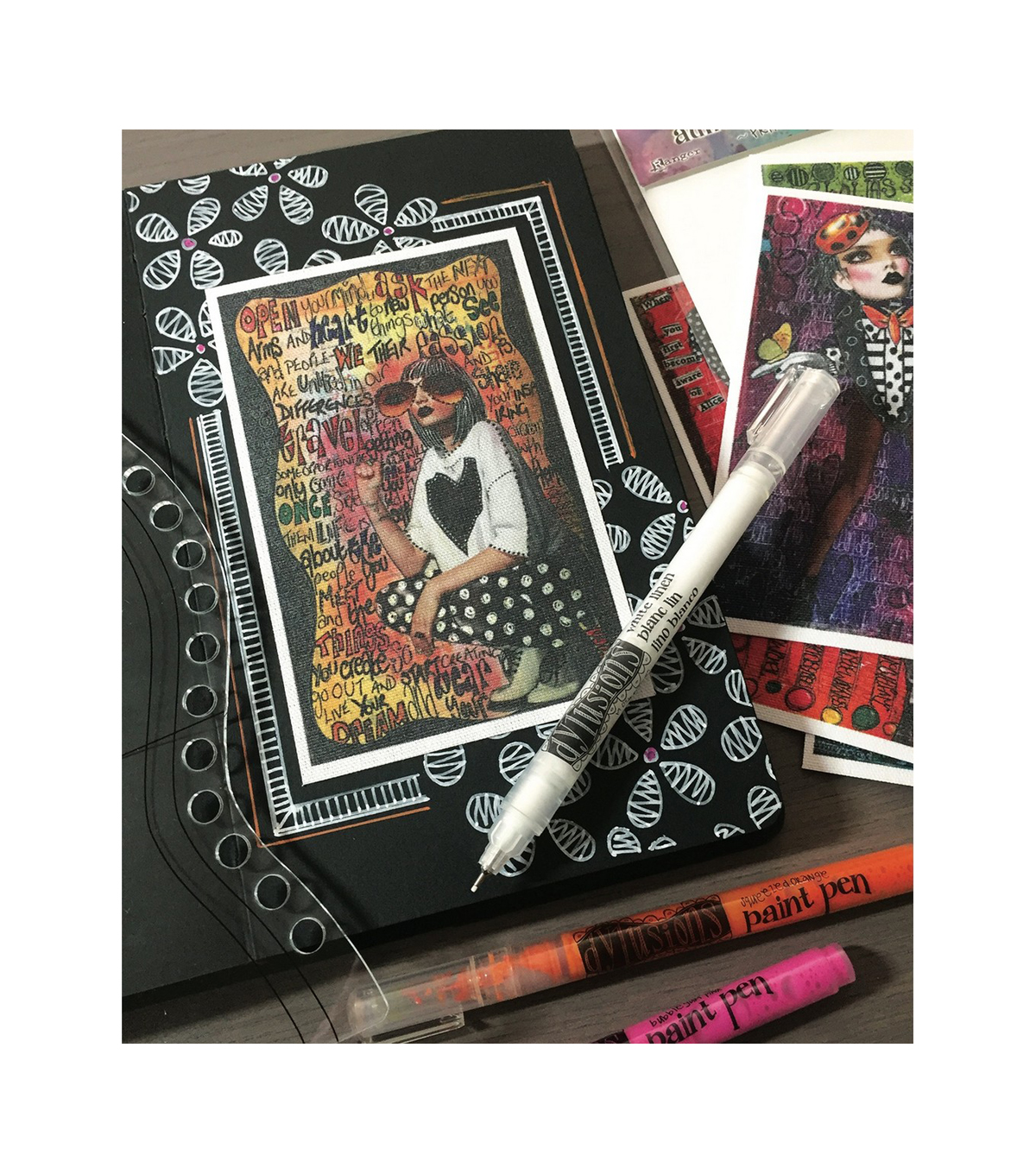 Dyan Reaveley\u0027s Dylusions Black Journal-Small