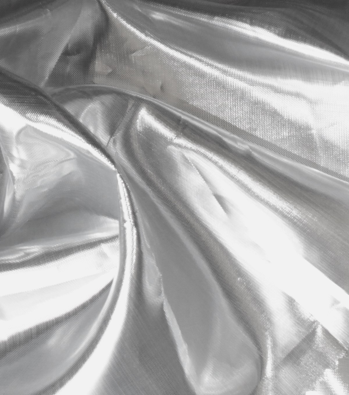 Metallics Shiny Lame Fabric -Silver