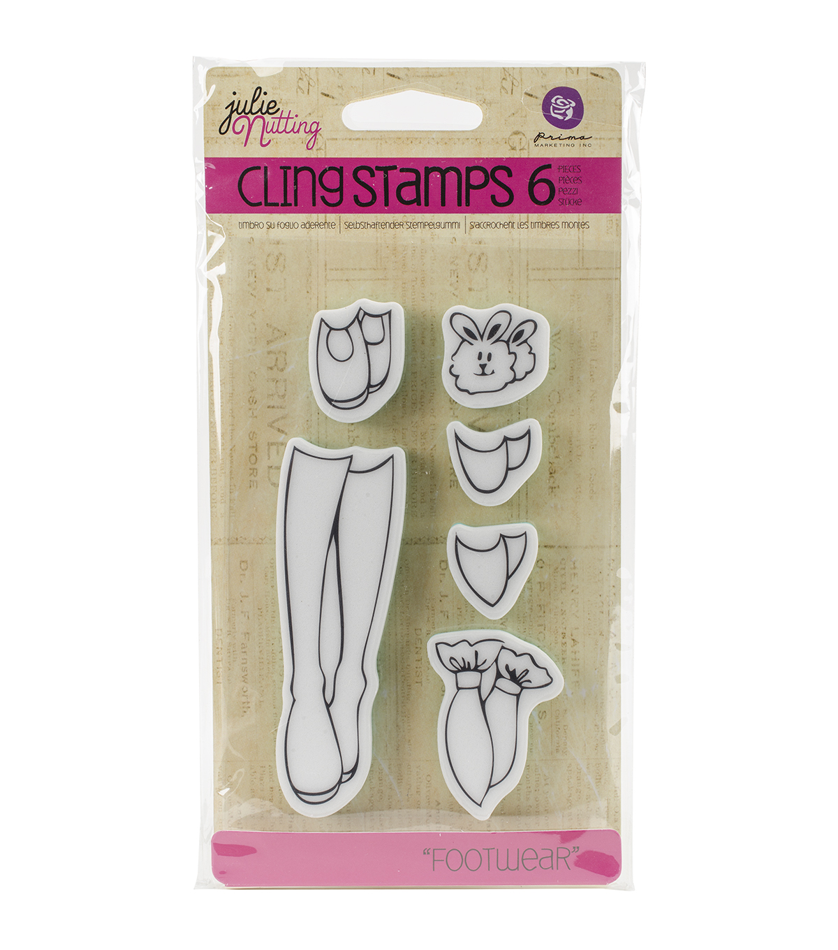 Prima Marketing Julie Nutting Cling Rubber Stamps-Footwear Accessories