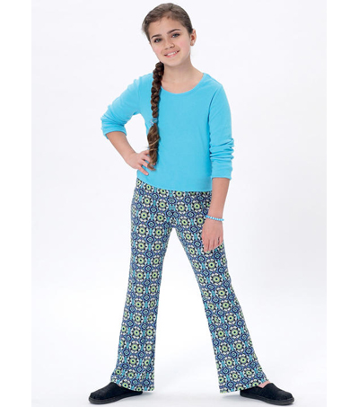 McCall\u0027s Pattern M7426 Girls\u0027/Girls\u0027 Plus Pull-On Pants & Leggings