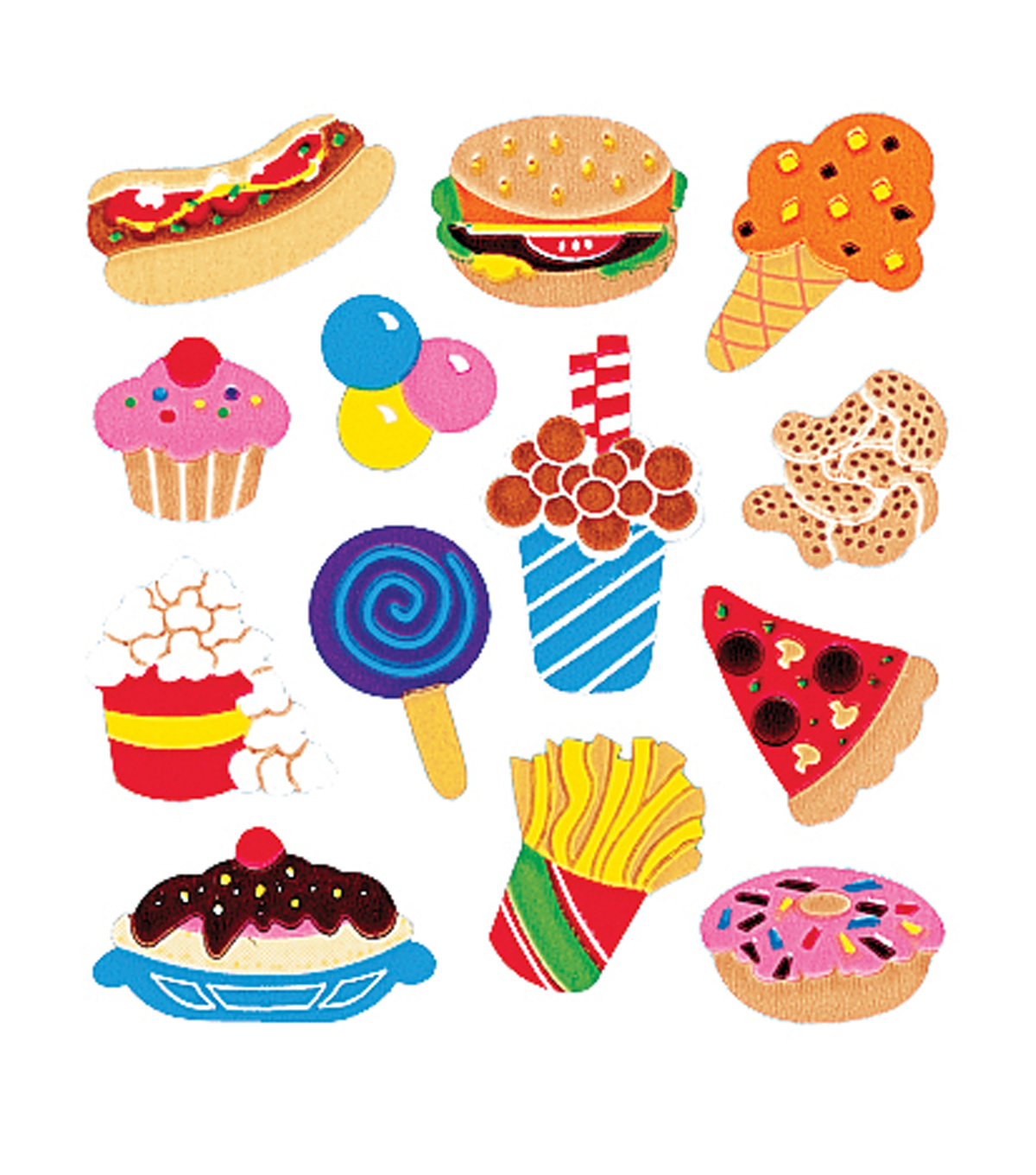 Sandylion Classpak Stickers-Junk Food