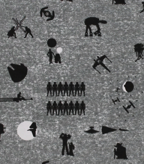 Star Wars Knit Fabric 58\u0027\u0027-Character