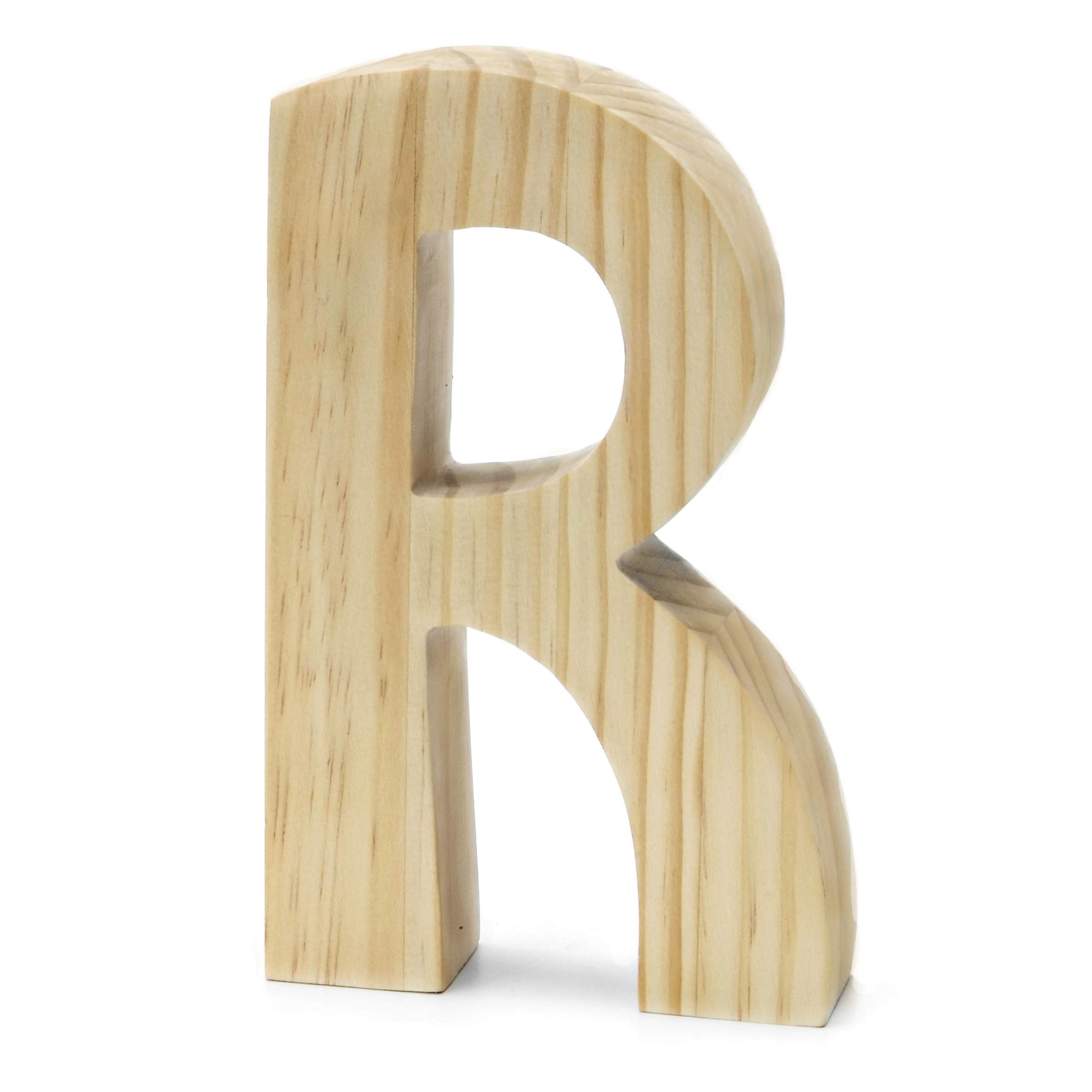 Chunky Wood Letter 8 X 5 In, R