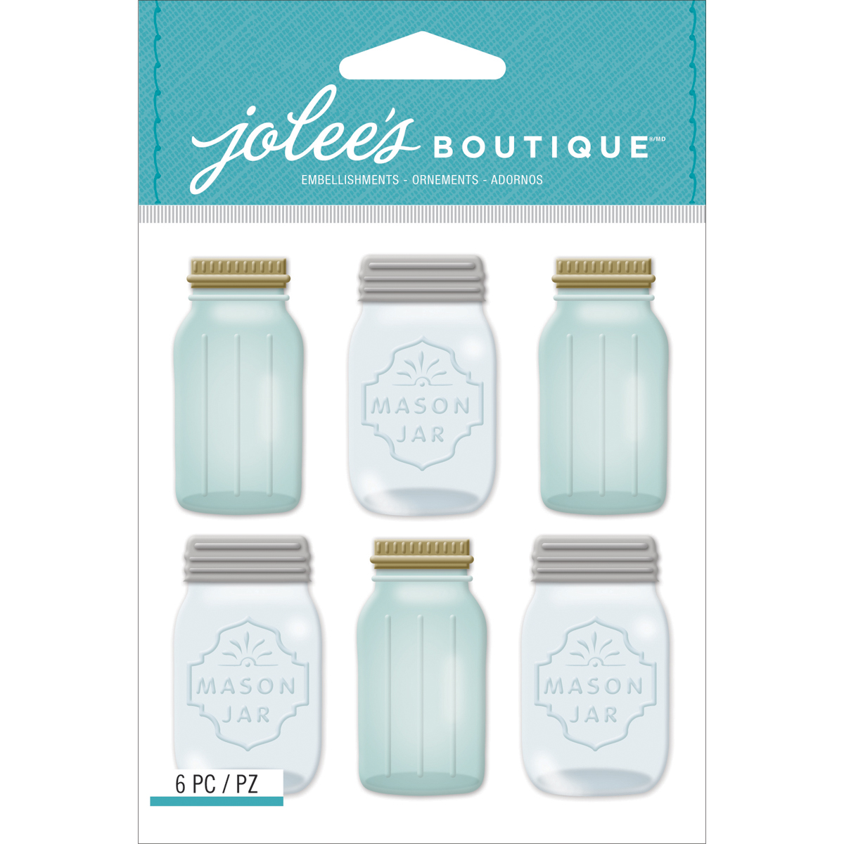 Jolee\u0027s Mini Repeats Stickers Mason Jar