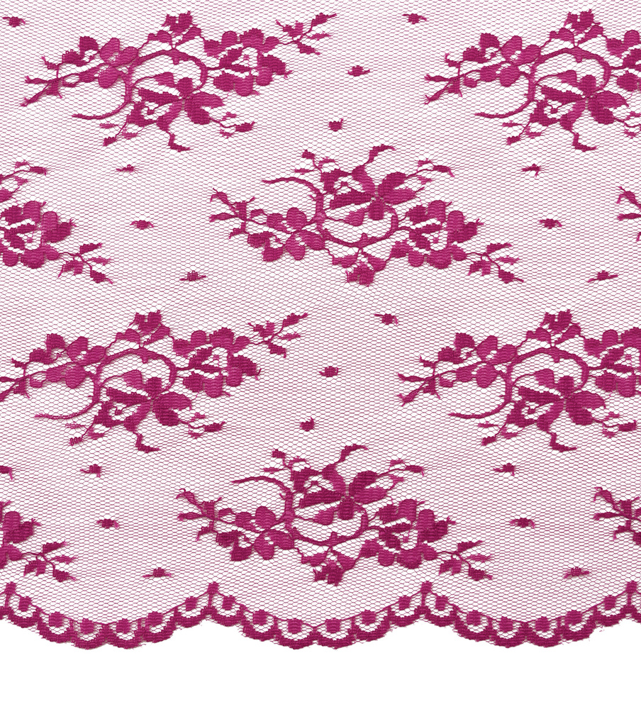 Casa Collection Chantilly Lace Fabric -Solids, Deep Orchid