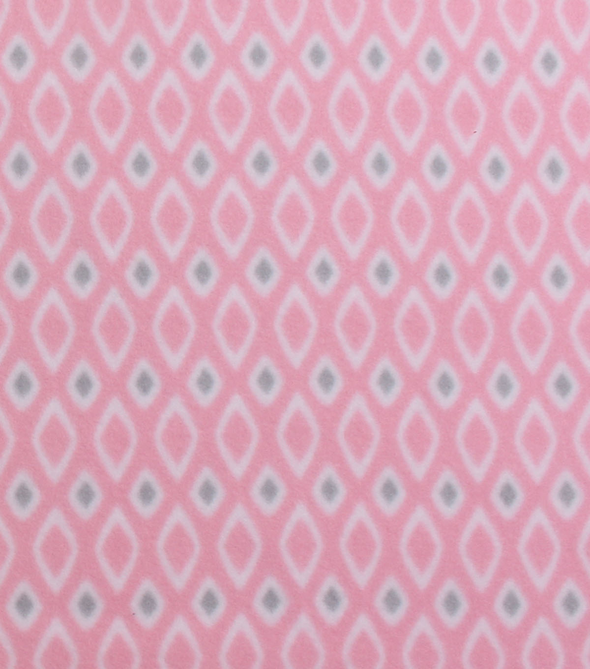 Blizzard Fleece Fabric 59\u0027\u0027-Diamond on Light Pink