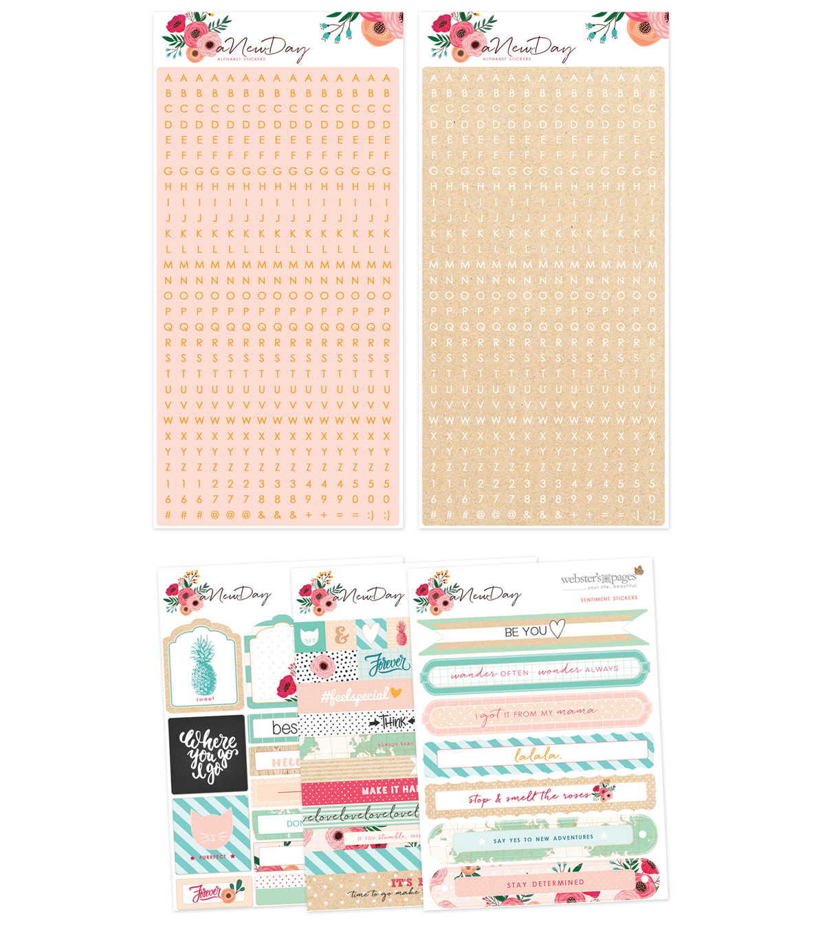 Webster\u0027s Pages Sticker Pad Set-A New Day