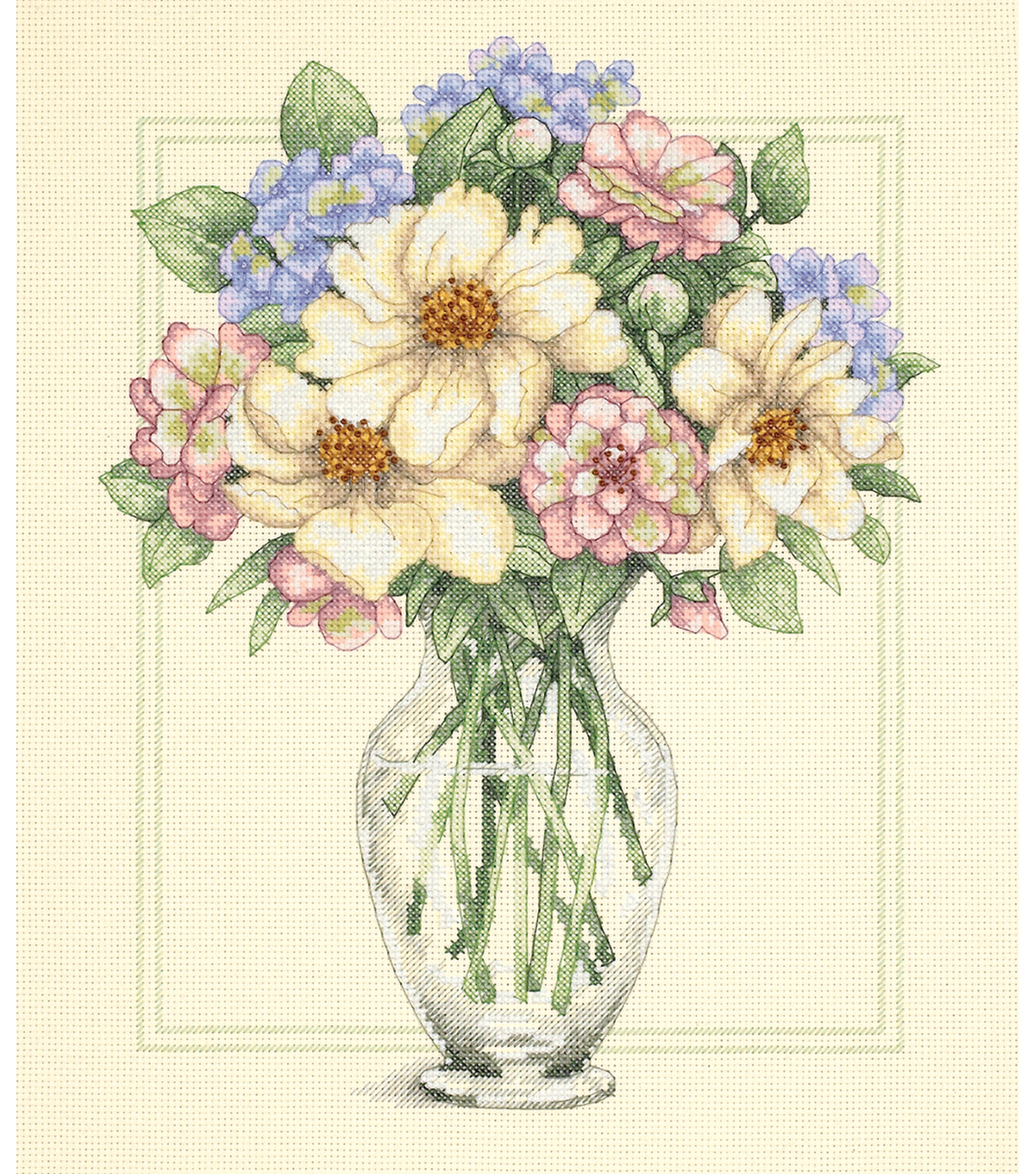Dimensions Flowers In Tall Vase Counted Cross Stitch Kit