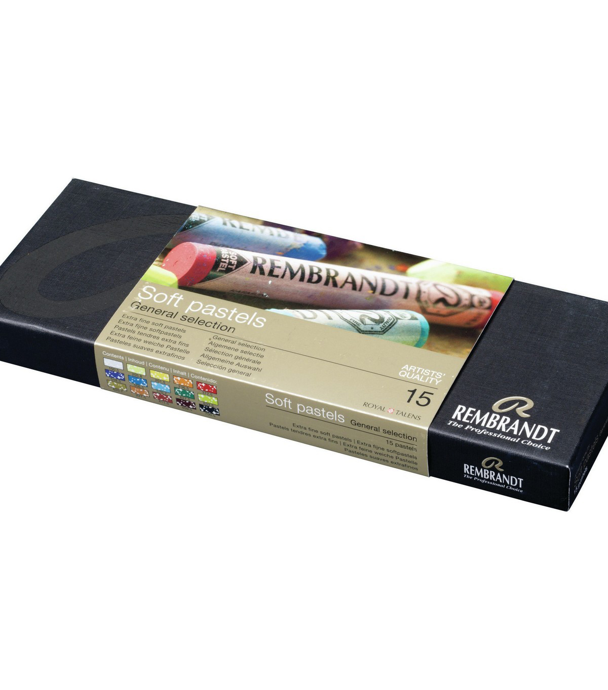 Rembrandt 15 pk Full Stick Extra Fine Soft Pastels-General Selection