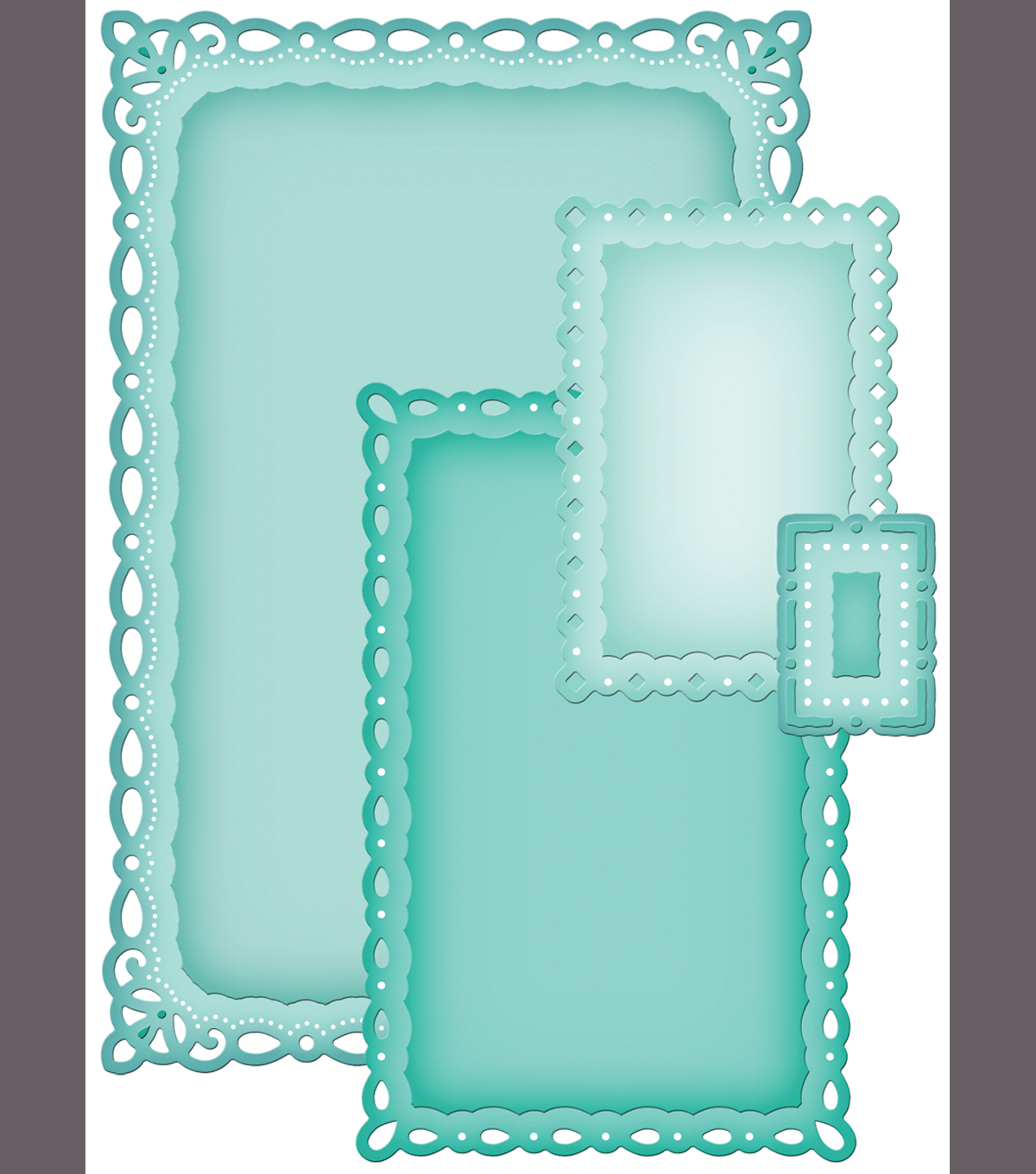 Spellbinders Nestabilities Dies-Romantic Rectangles