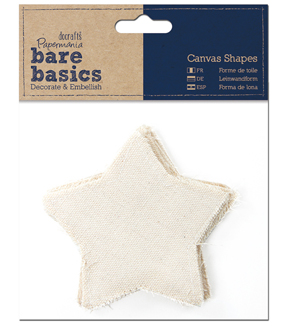 Papermania Bare Basics Star Canvas Shapes