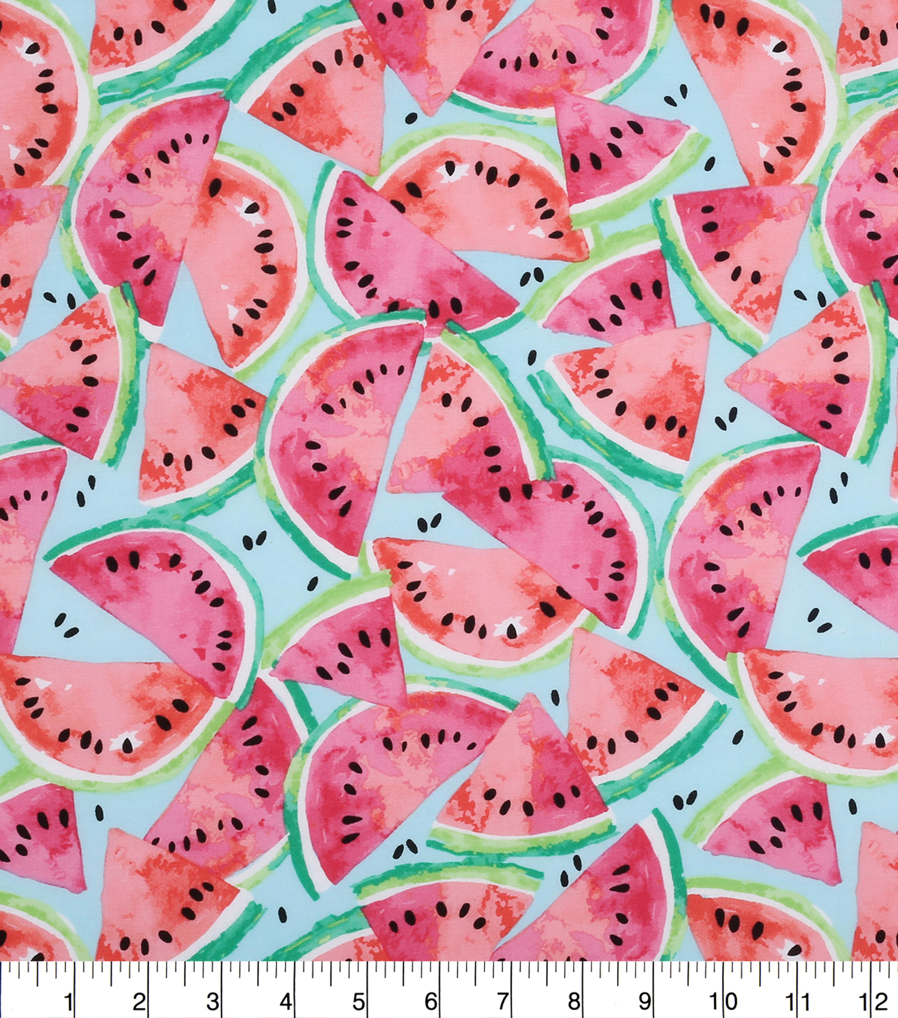 Novelty Cotton Fabric -Watermelon