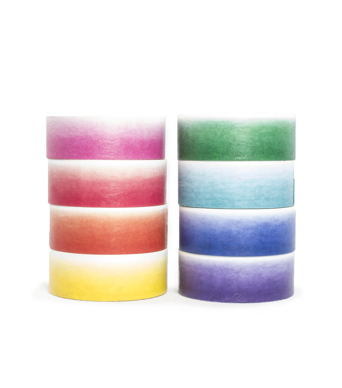 Park Lane 8 pk Washi Tapes 0.6\u0027\u0027x10 yds-Ombre
