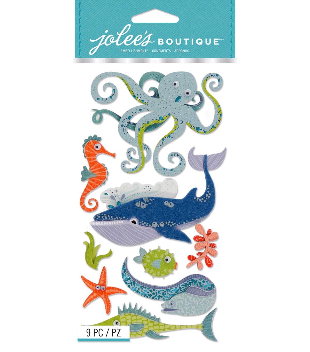 Jolee's Boutique Stickers-Ocean Animals