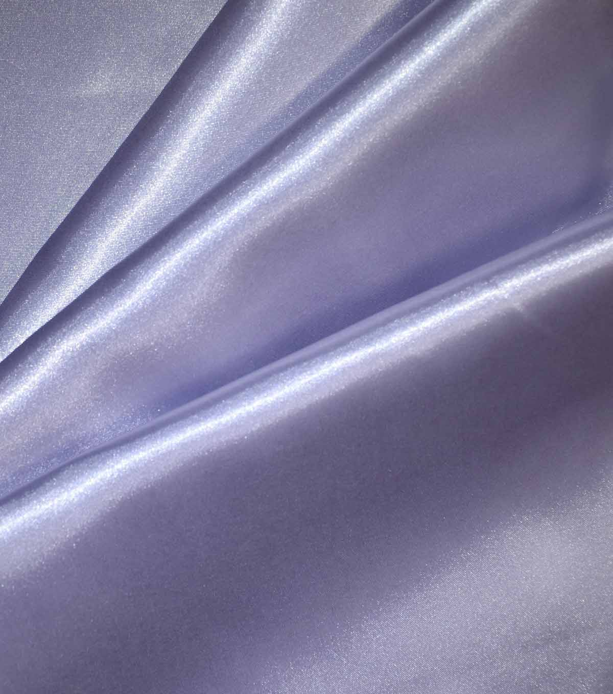 Casa Collection Shiny Satin Fabric, Lavender Blue