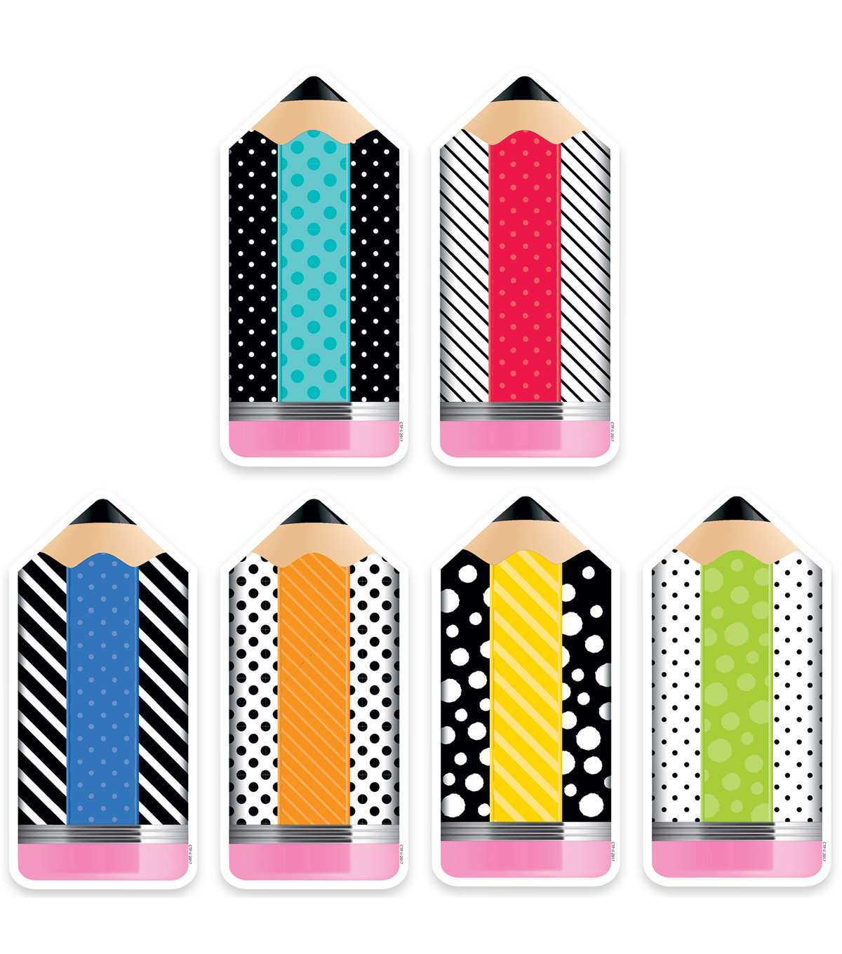 Creative Teaching Press Bold & Bright Pencils 6\u0022, 72 Per Pack, 3 Packs