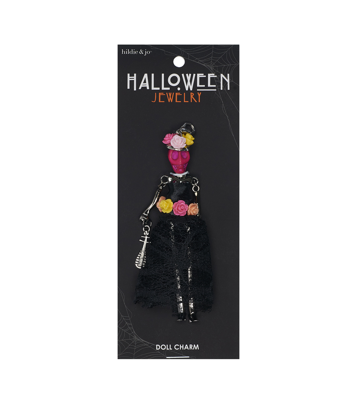 hildie & jo Halloween Doll Pendant-Day Of The Dead Colorfull Araceli