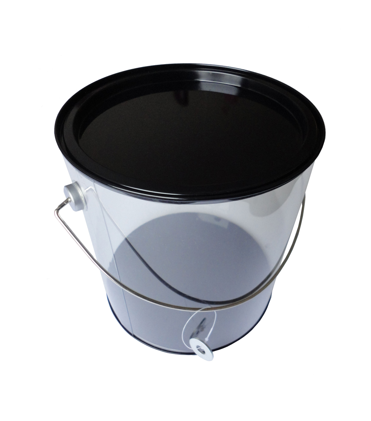 Hampton Art Large Plastic Paint Can with Tin Lid-Black