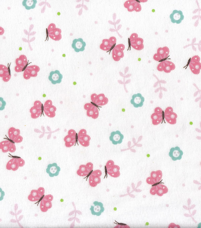 Snuggle Flannel Fabric -Precious Butterflies