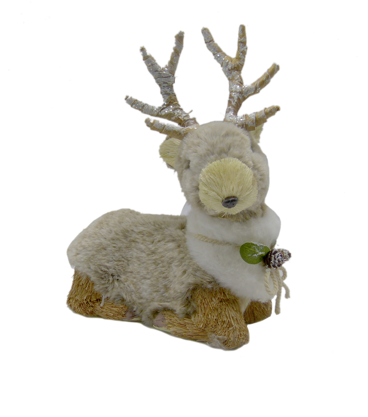 Handmade Holiday Christmas Sitting Deer-Brown