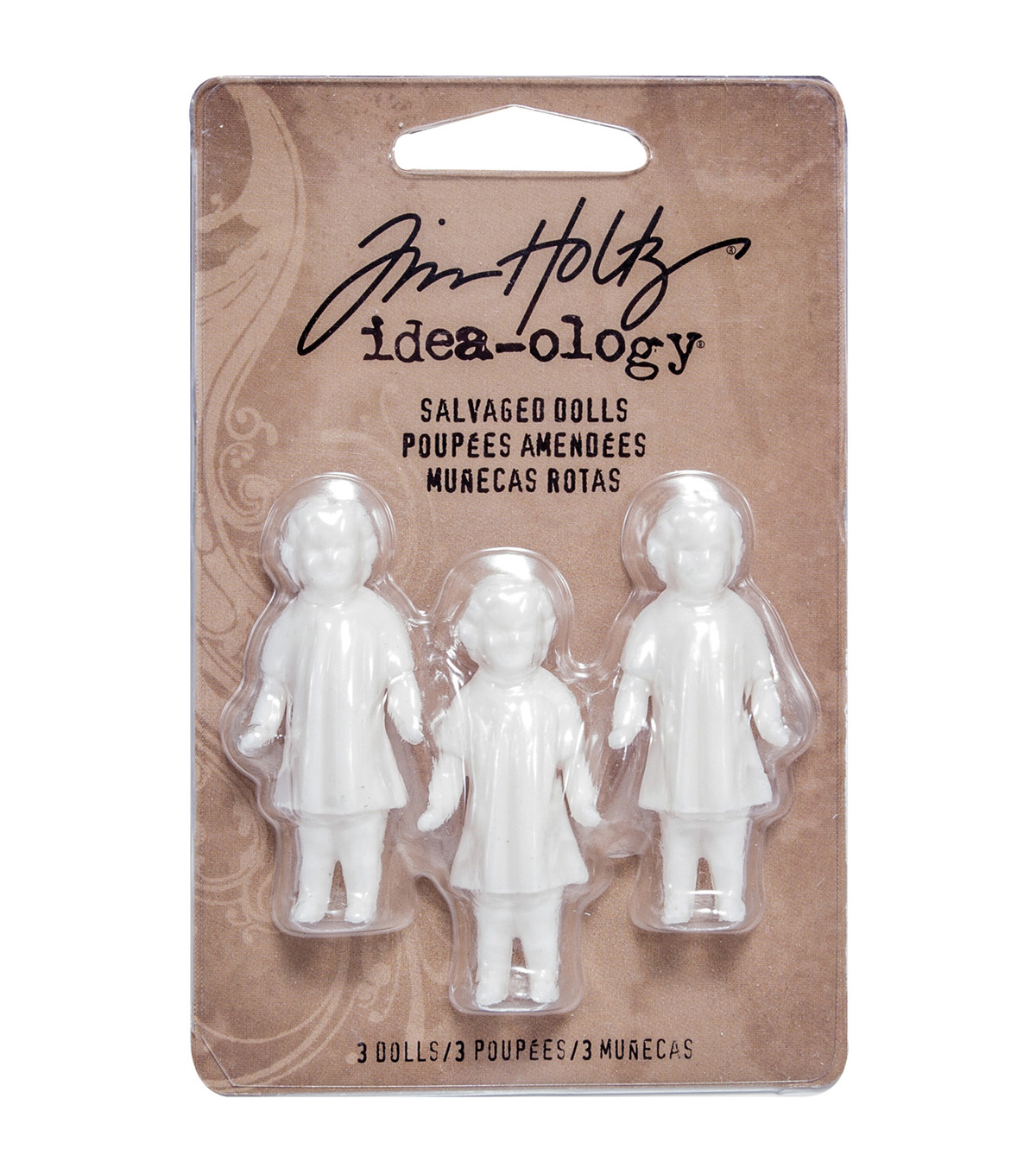Idea-Ology Salvaged Dolls 1.75\u0022 3/Pkg-