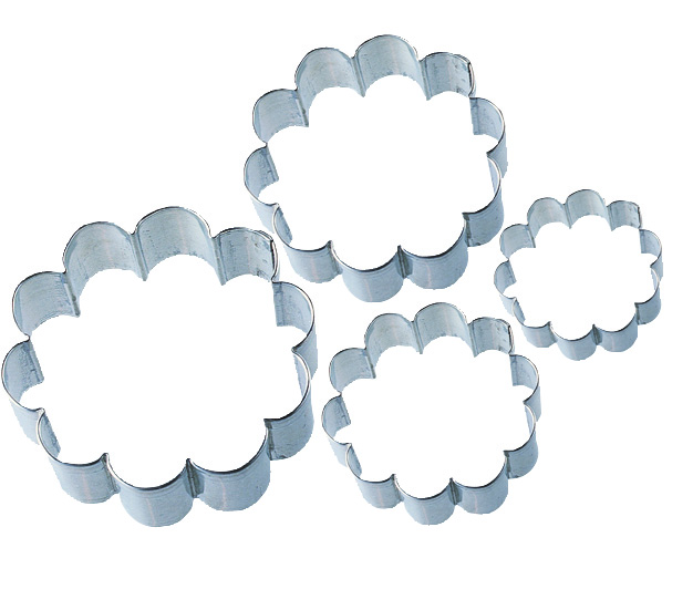 Wilton® Nesting Metal Cookie Cutter Set 4/Pkg-Blossom