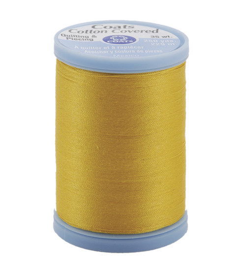 Coats & Clark Cotton Covered Quilting & Piecing Thread 250 Yards , 7360 Spark Gold