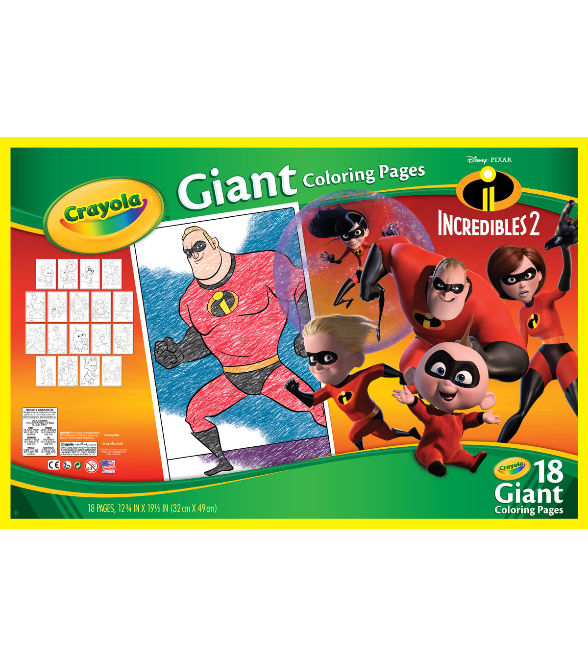 - Crayola Giant Coloring Pages Incredibles 2 JOANN
