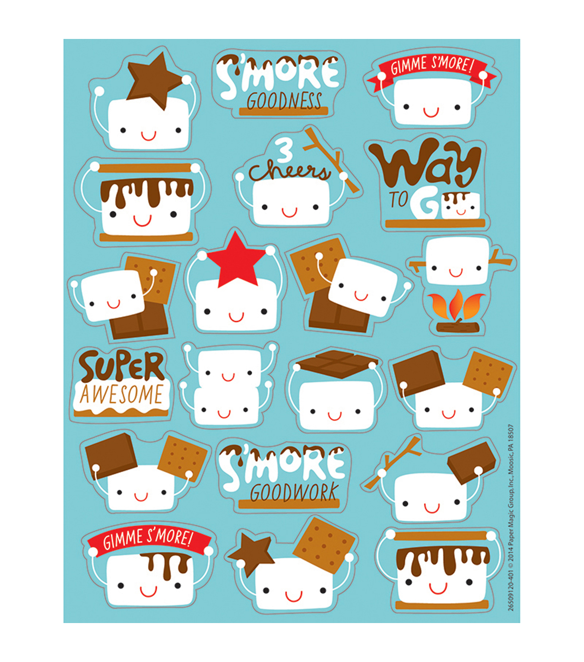 Marshmallow Scented Stickers 12 Packs