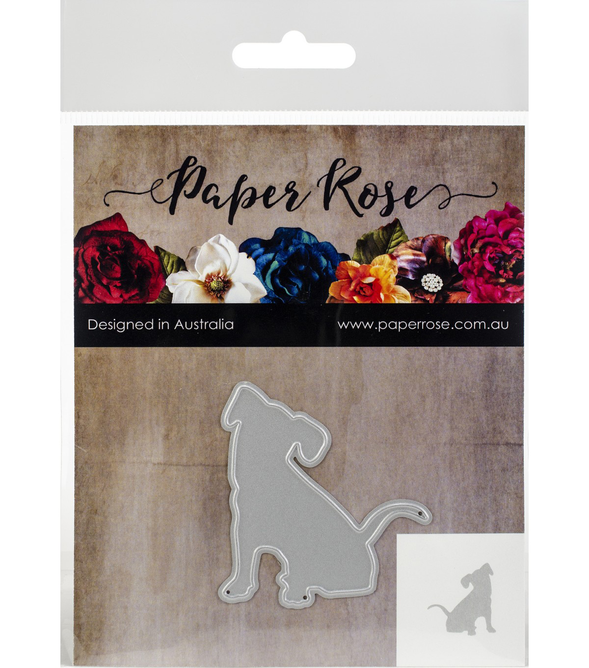 Paper Rose 2\u0027\u0027x2.04\u0027\u0027 Metal Die-Sitting Dog