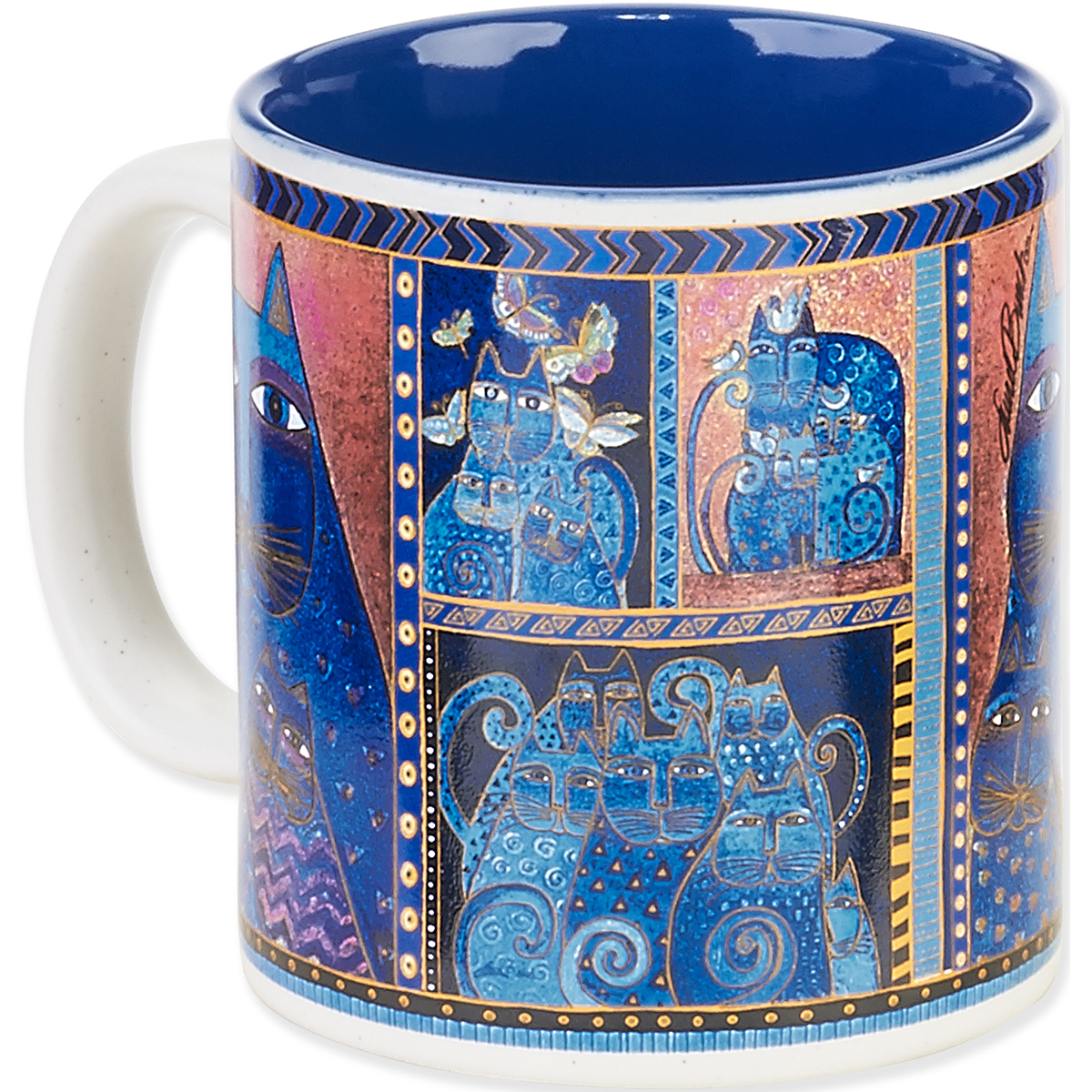 Laurel Burch Indigo Cat Mug