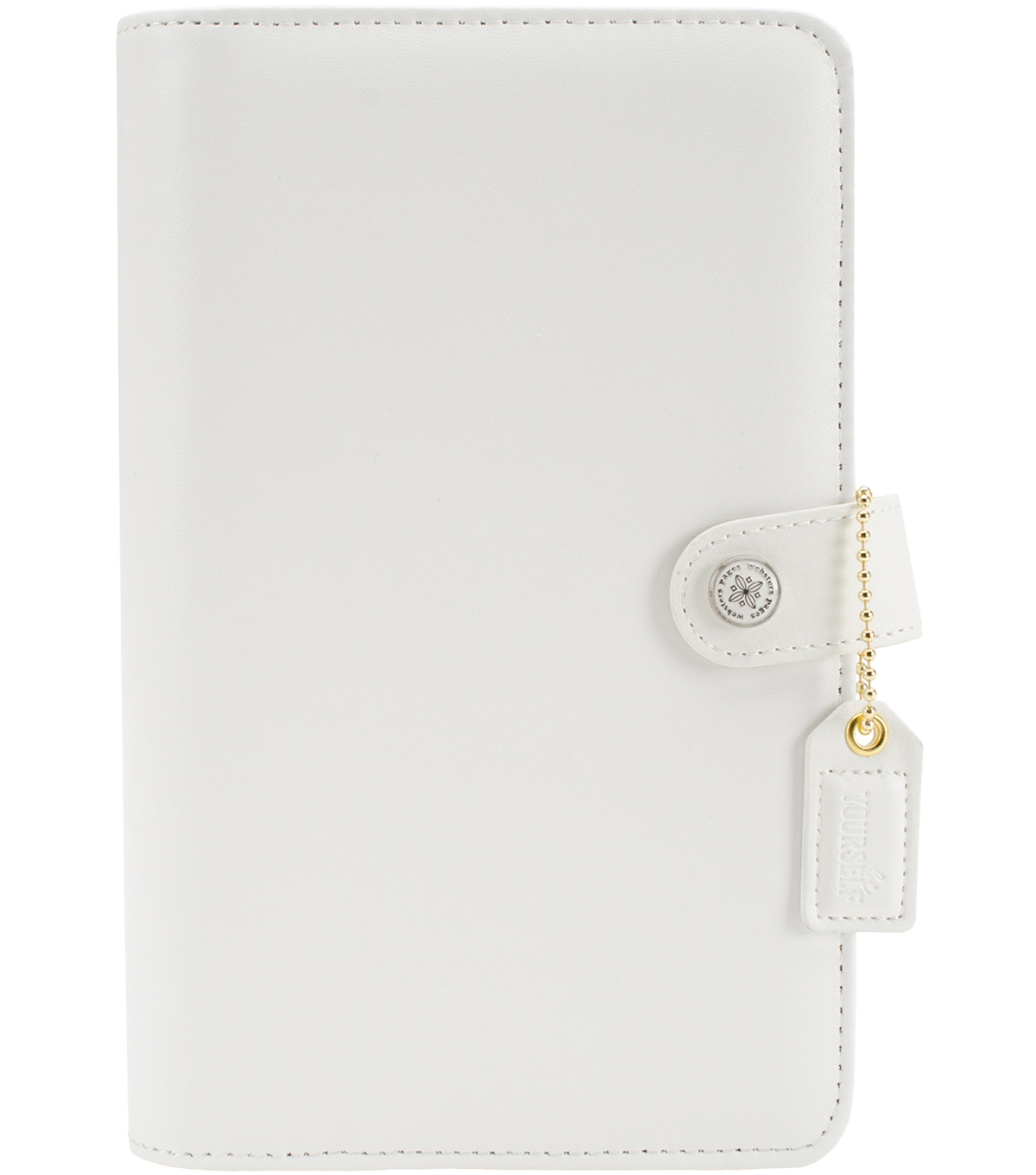 A5 Faux Leather 6-Ring Planner Binder 7.5\u0022X10\u0022-White