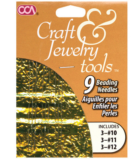 Cousin Craft & Jewelry Beading Needles 9/Pkg-3 each of #10, #11, #12