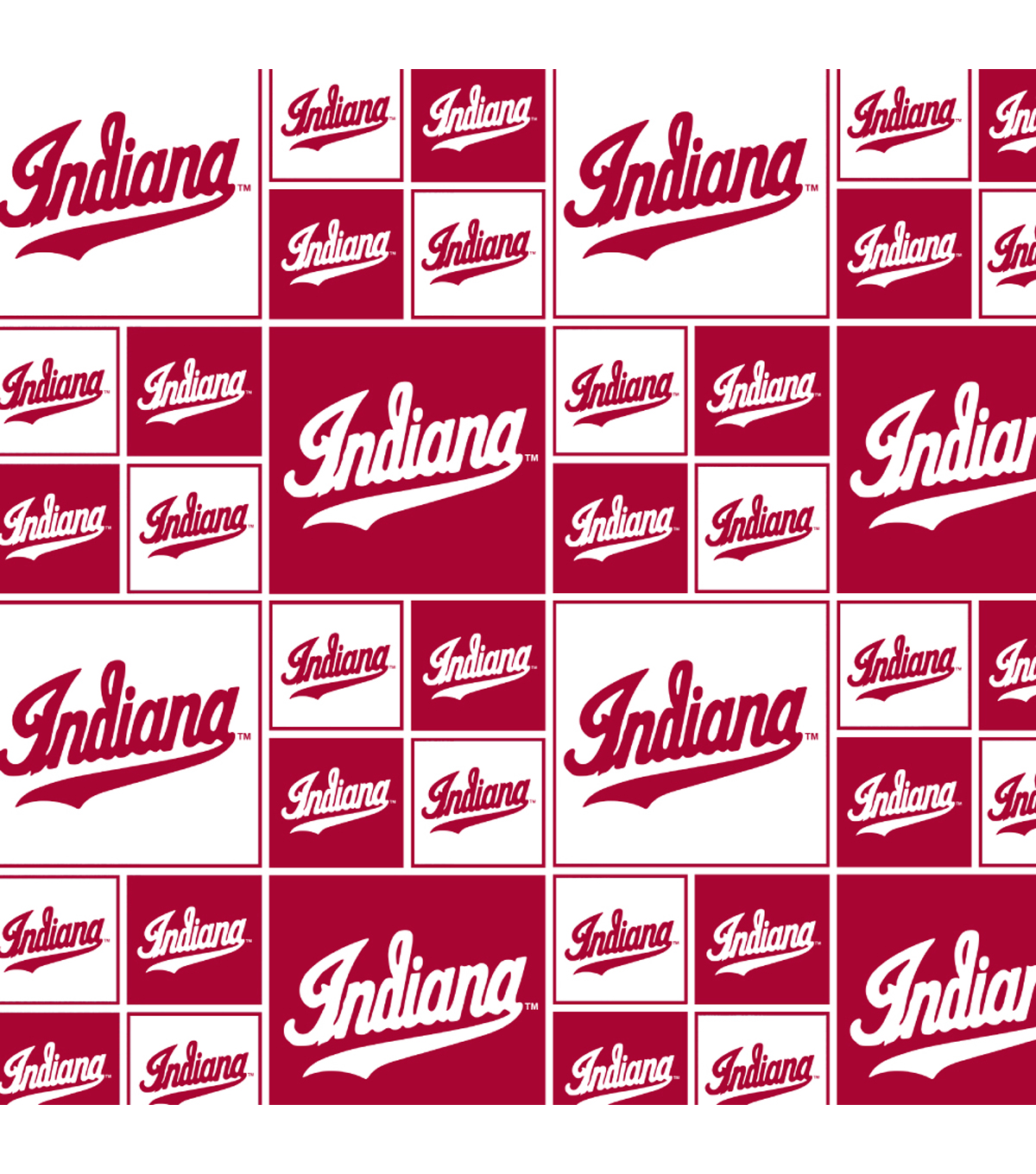 Indiana Hoosiers Cotton Fabric-Block