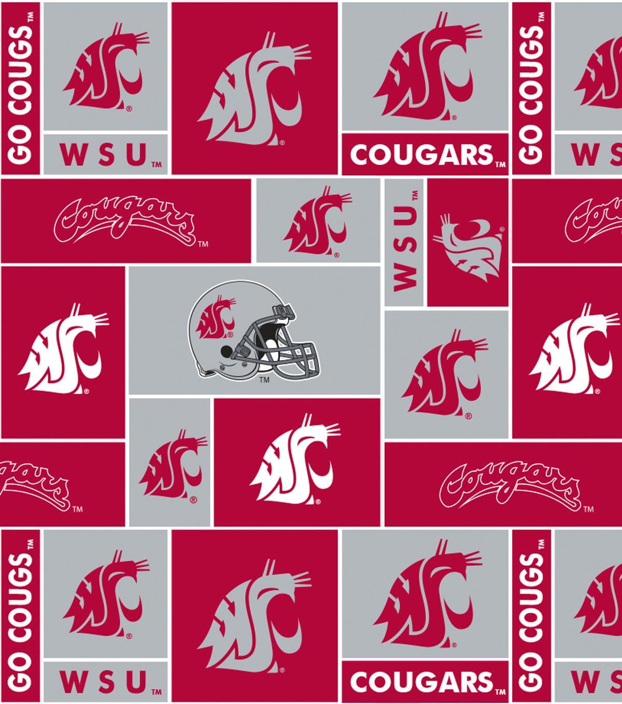 Washington State University Cougars Fleece Fabric 58\