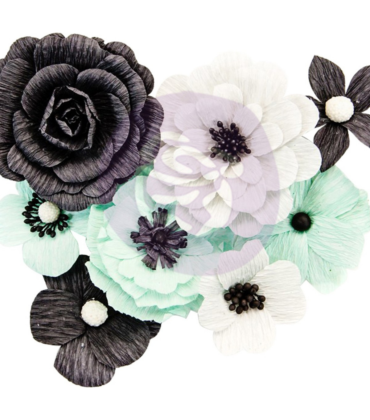 Prima Marketing Flirty Fleur Crepe Paper Flowers 8/Pkg-Perfect Day