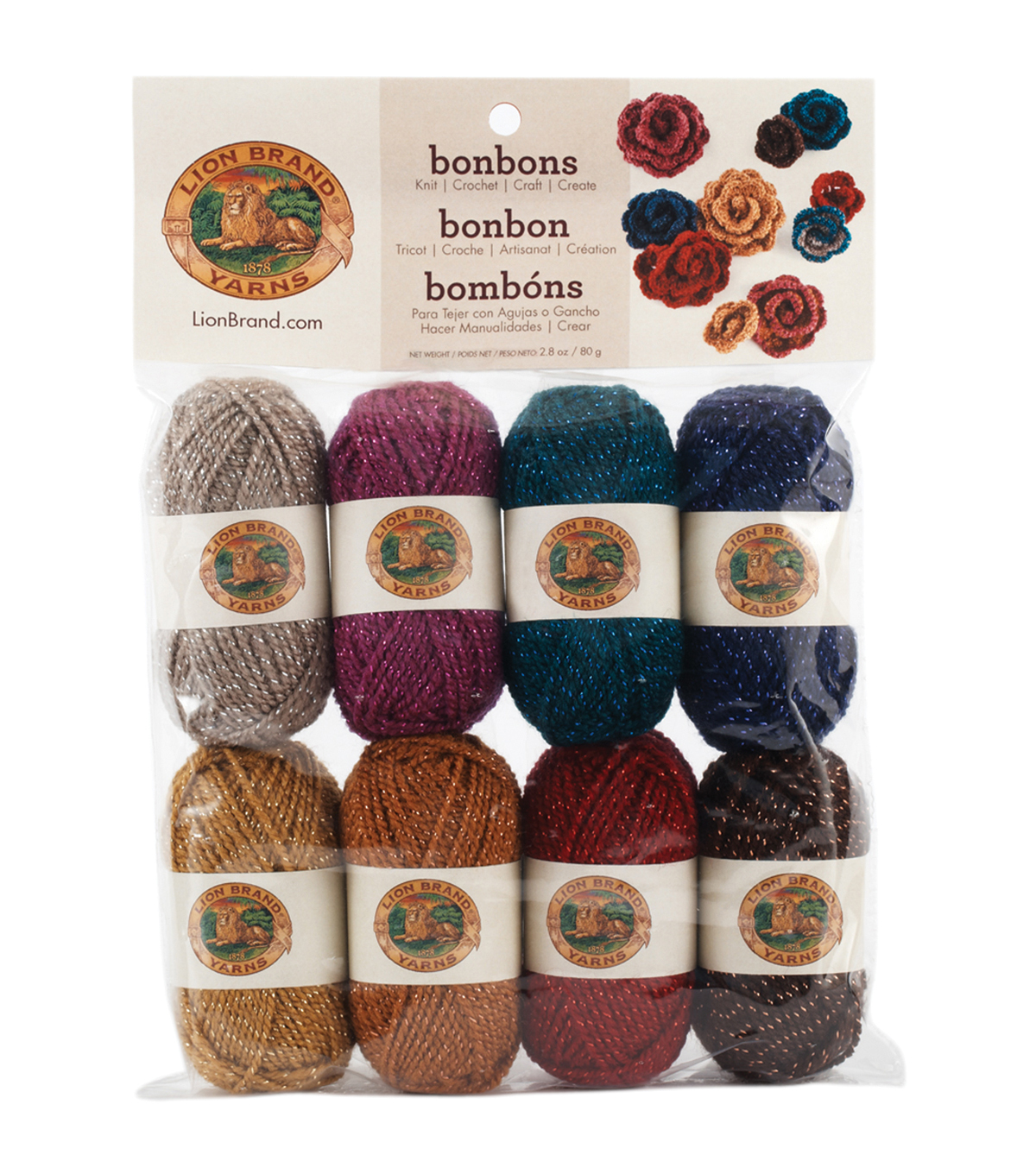 Lion Brand Bonbons Yarn 8/Pkg-Party