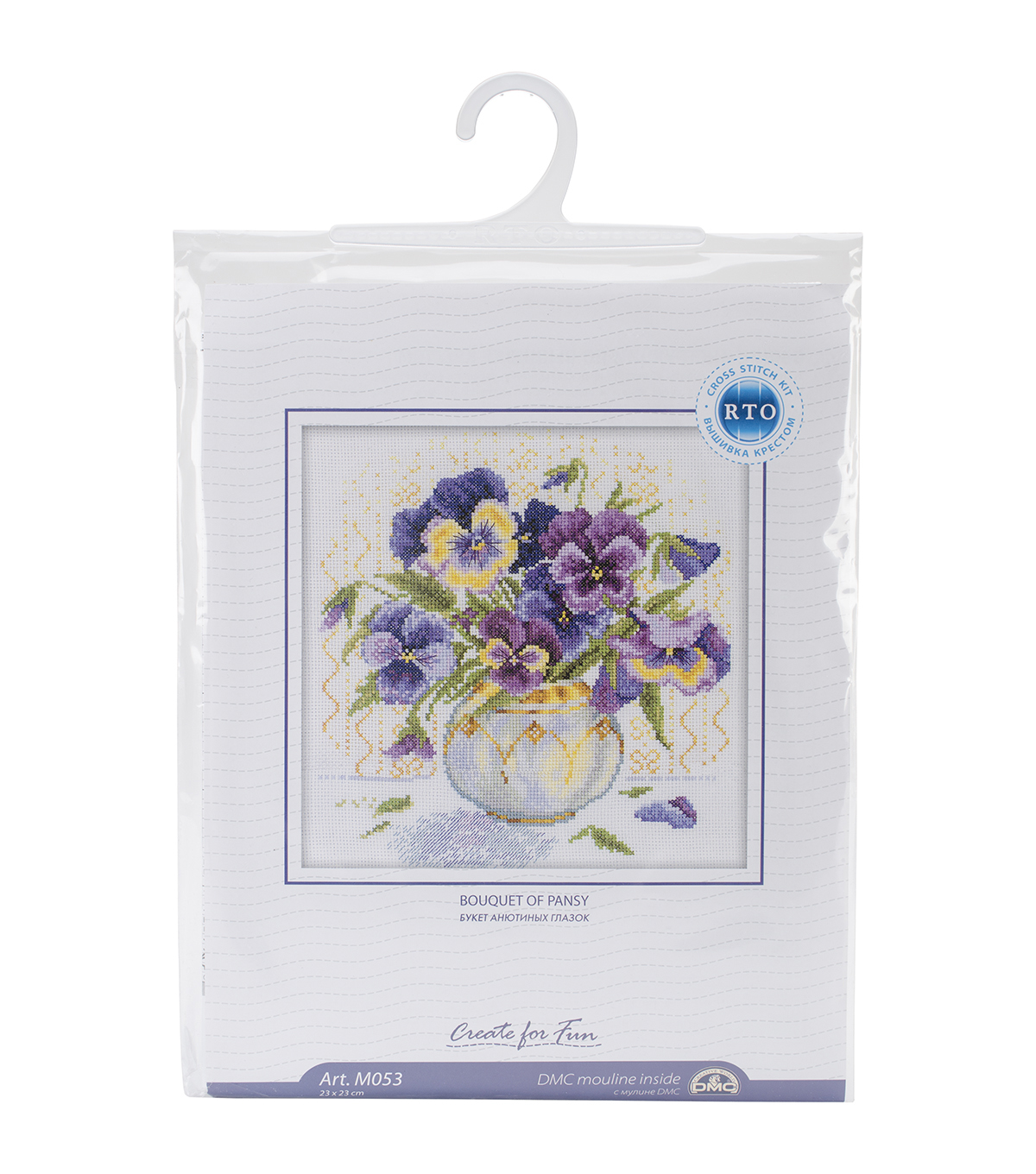 RTO- Pansies Counted Cross Stitch Kit