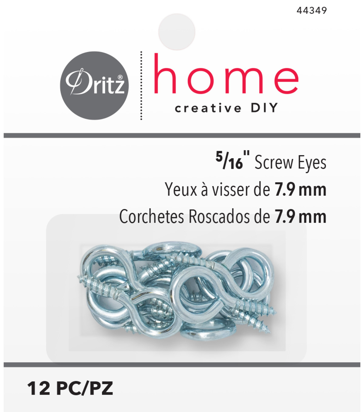 Dritz Home 0.31\u0022 Screw Eyes 12pcs