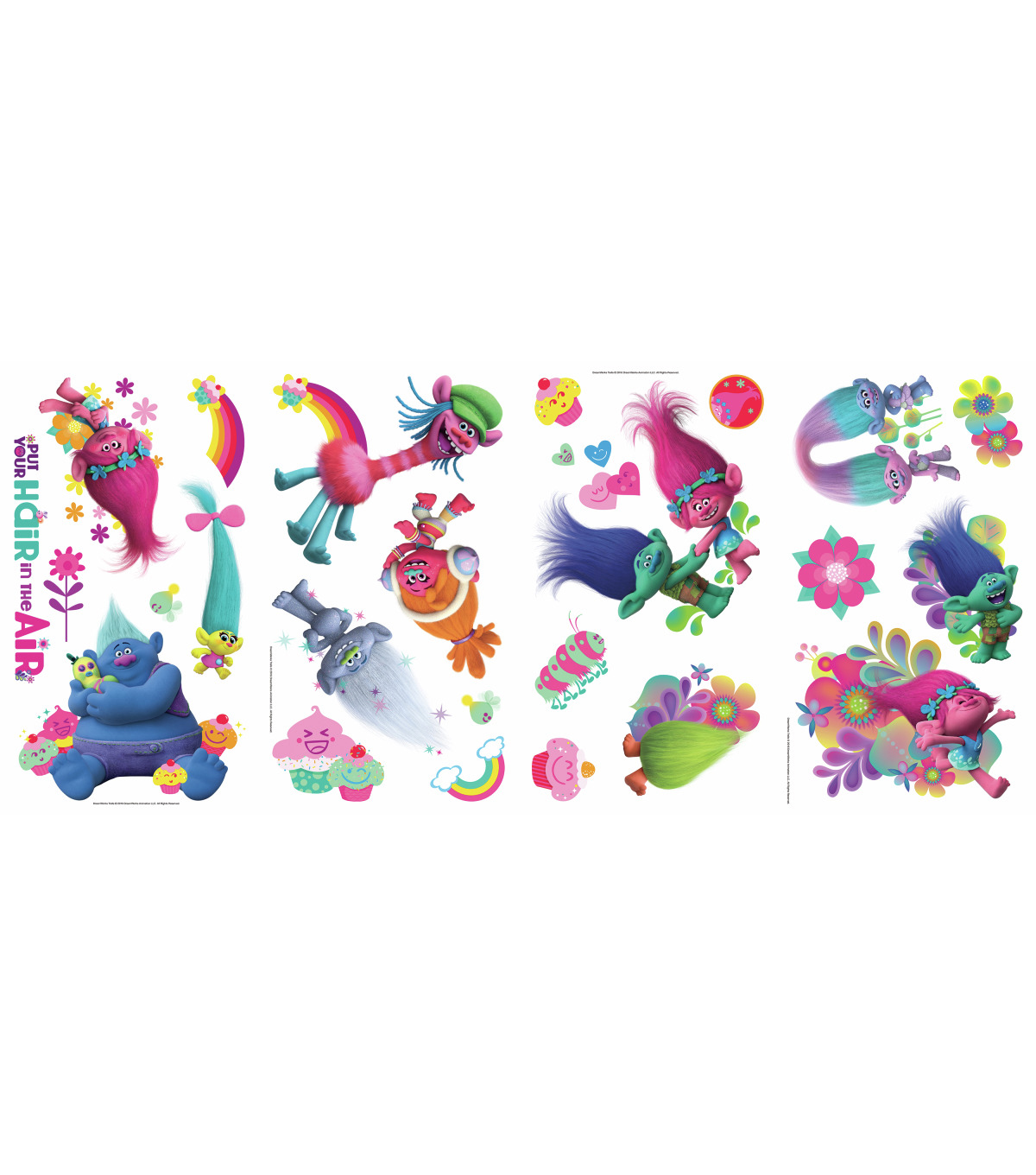 York Wallcoverings Wall Decals-Trolls