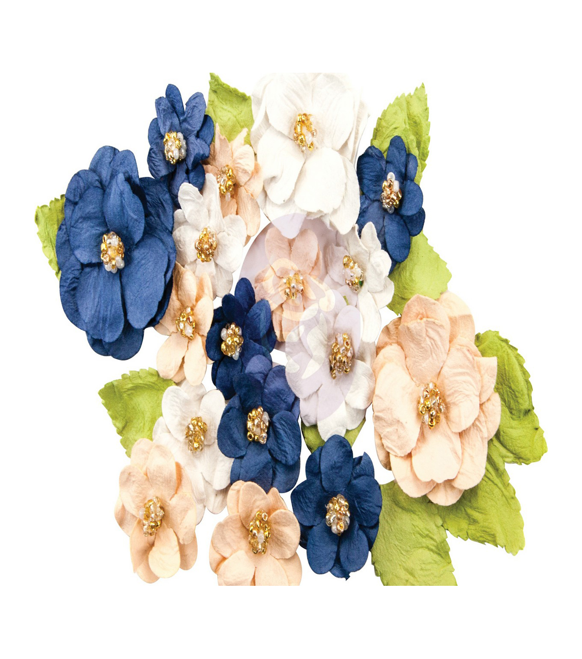 Prima Marketing Georgia Blues 28 pk Mulberry Paper Flowers-Morgan
